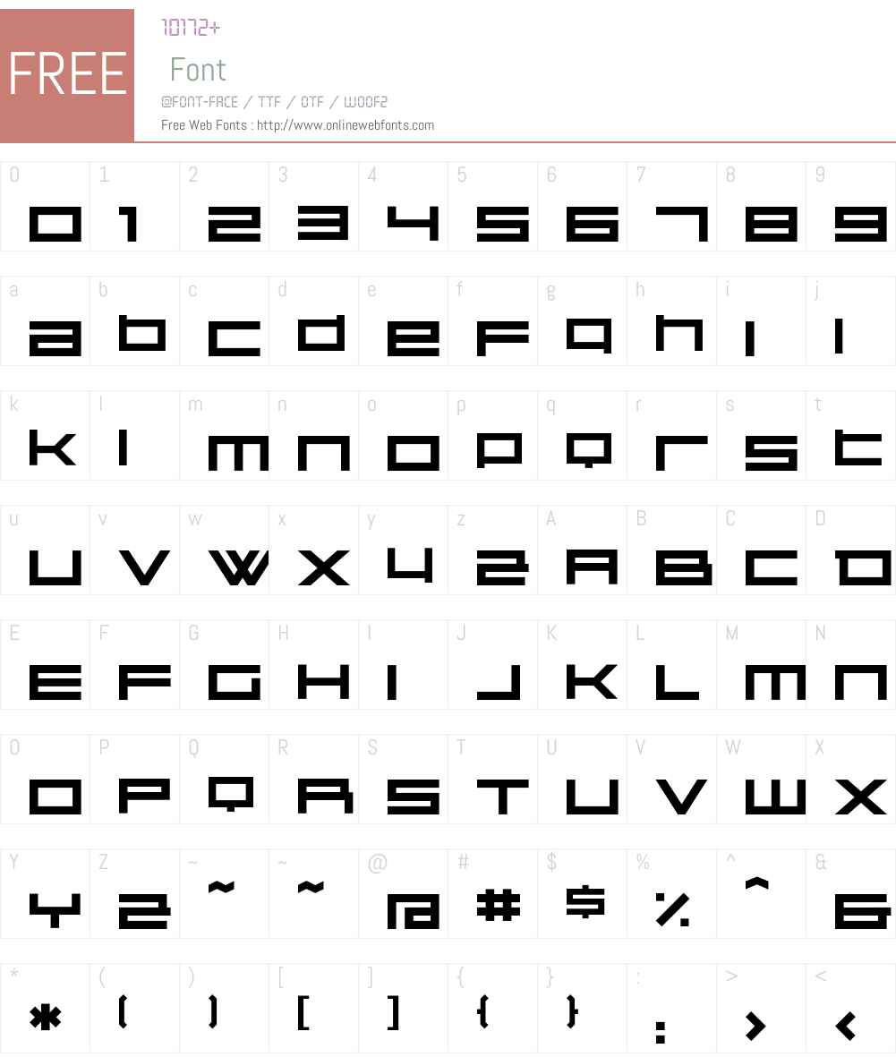 Kunstware Font Screenshots
