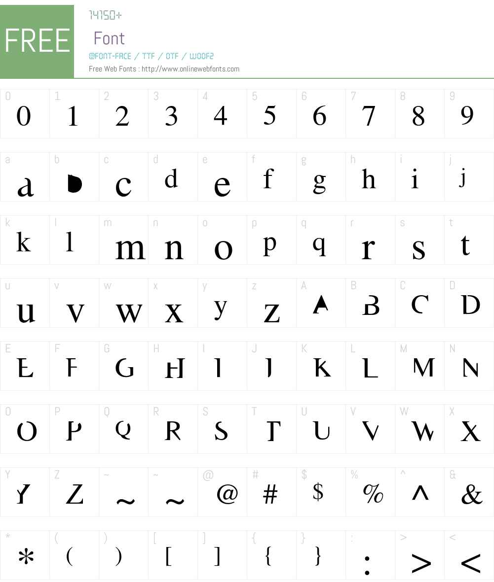 Masonic Font Screenshots