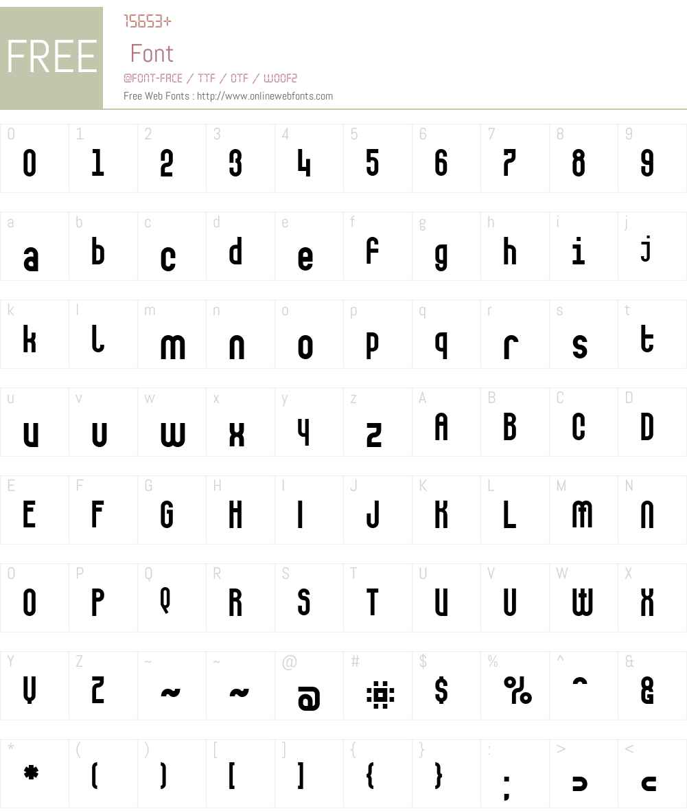 Makushka Font Screenshots
