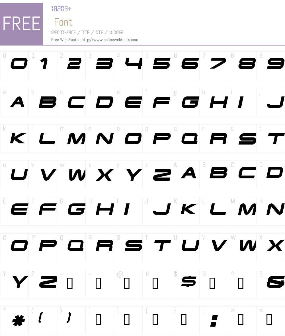 Endzone Font Screenshots