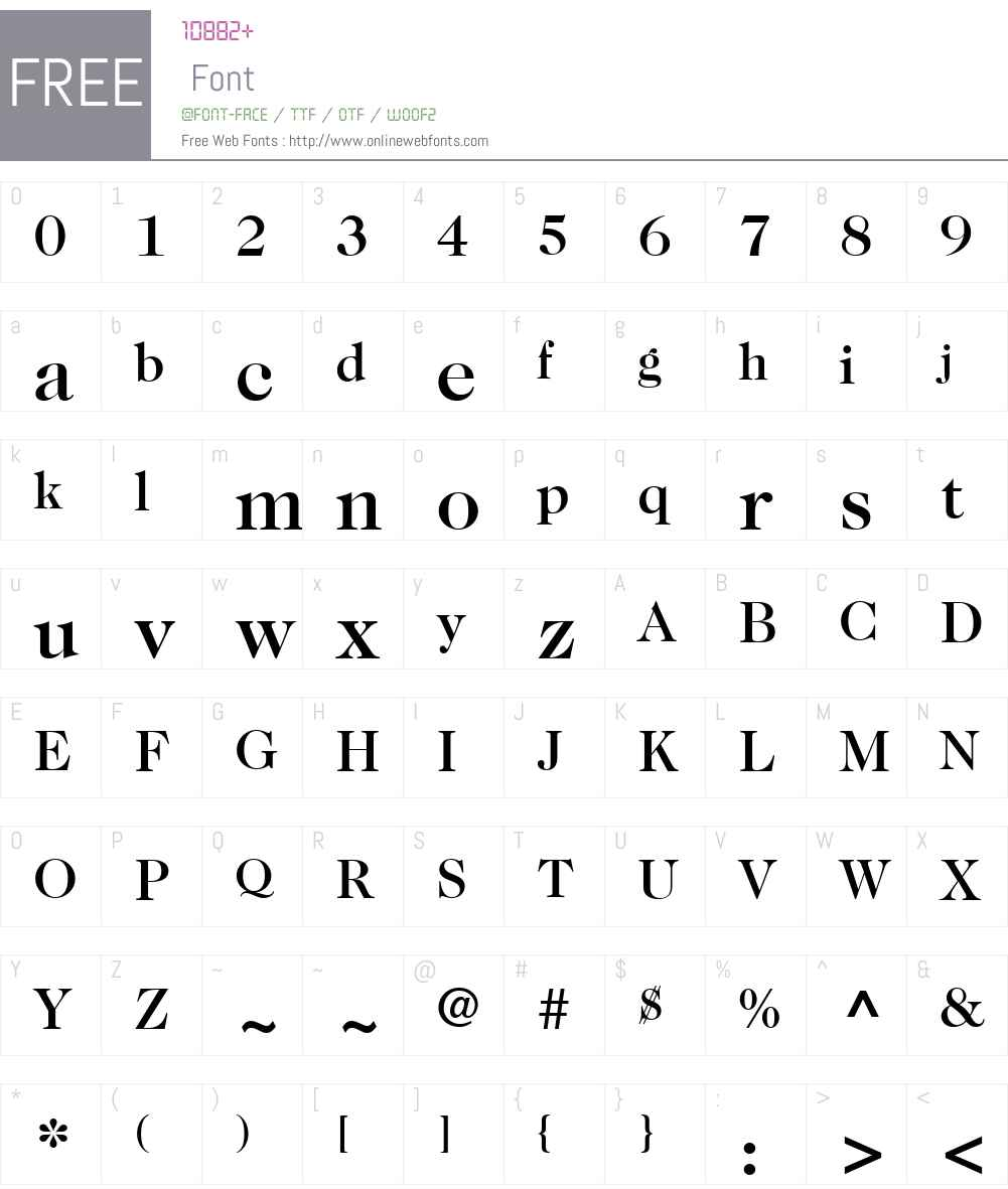 ITC Caslon No. 224 Font Screenshots