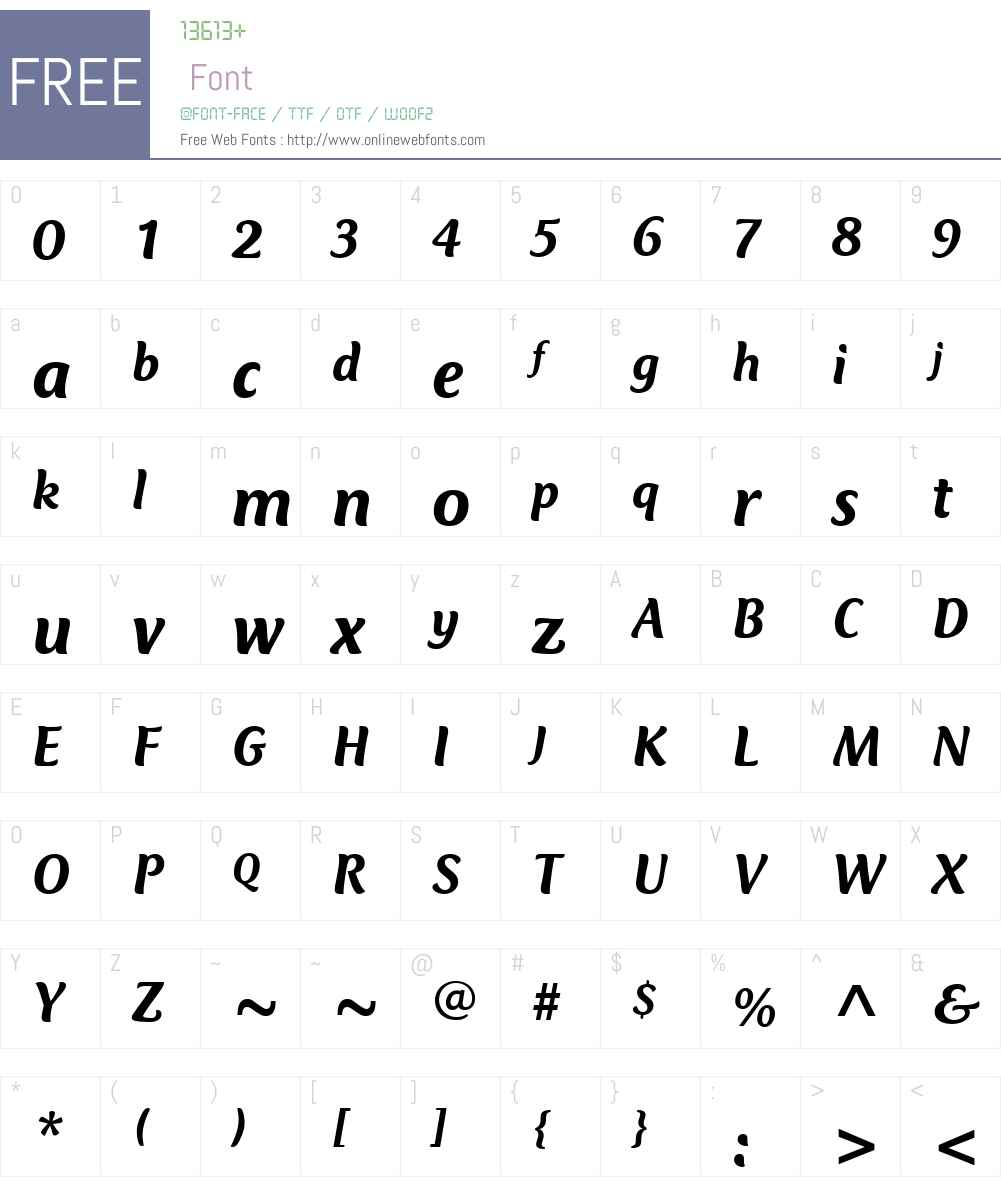 ClubTypeW01-MediumItalic Font Screenshots
