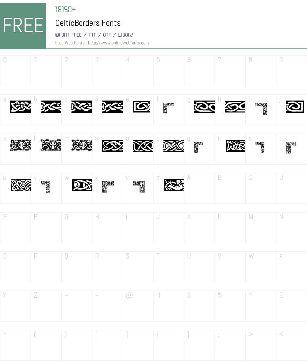 CelticBorders Font Screenshots