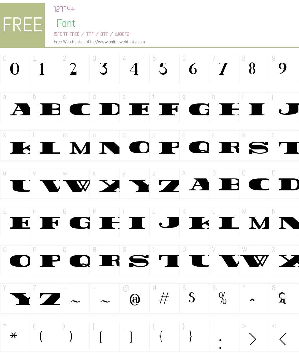 Rider Font Screenshots
