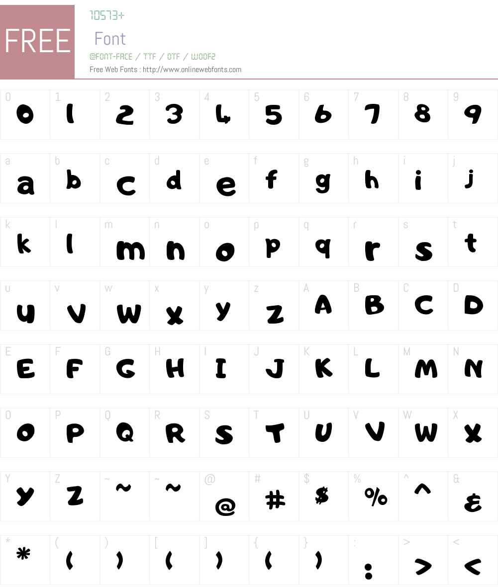 FontsRUs Font Screenshots