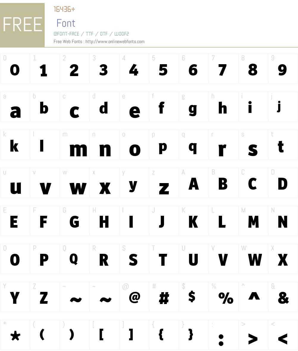 Officina Display ITC Std Font Screenshots