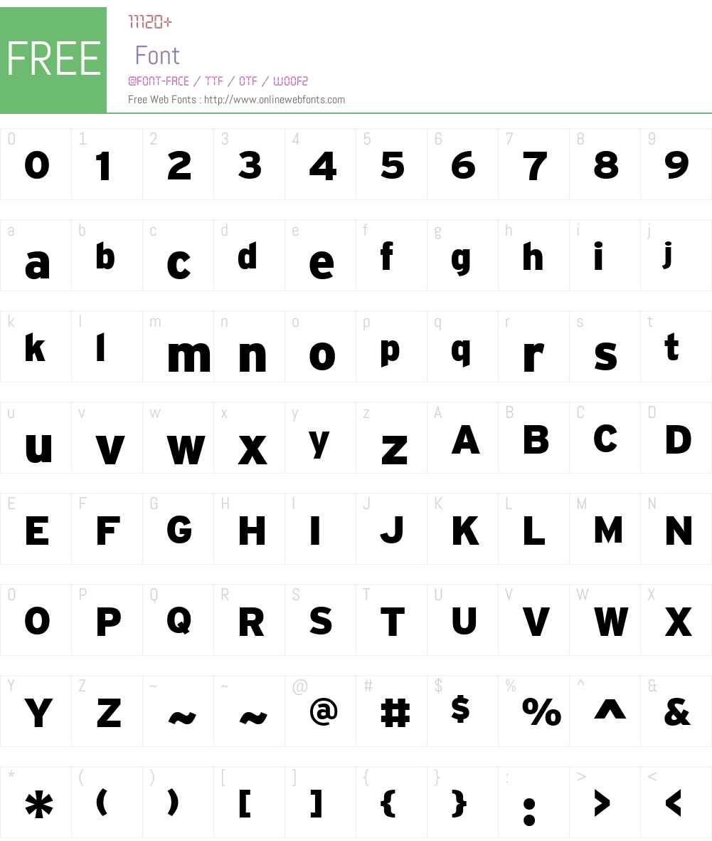 Home Font Screenshots
