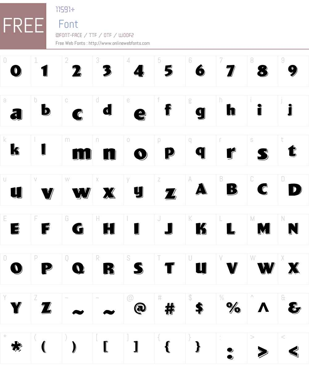 WigwagW01-Deluxe Font Screenshots