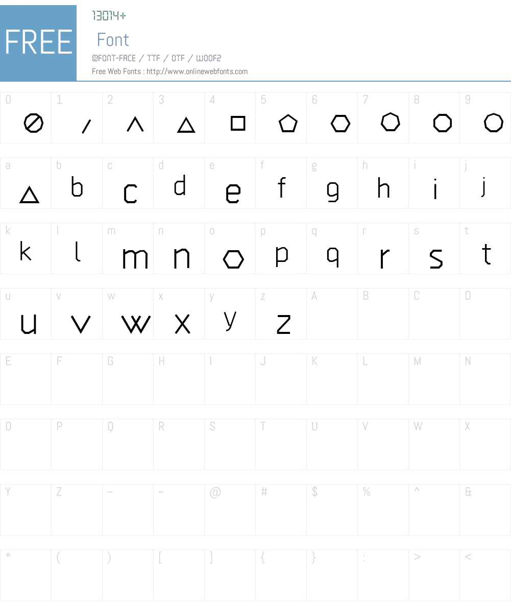 GEOGRAM Font Screenshots