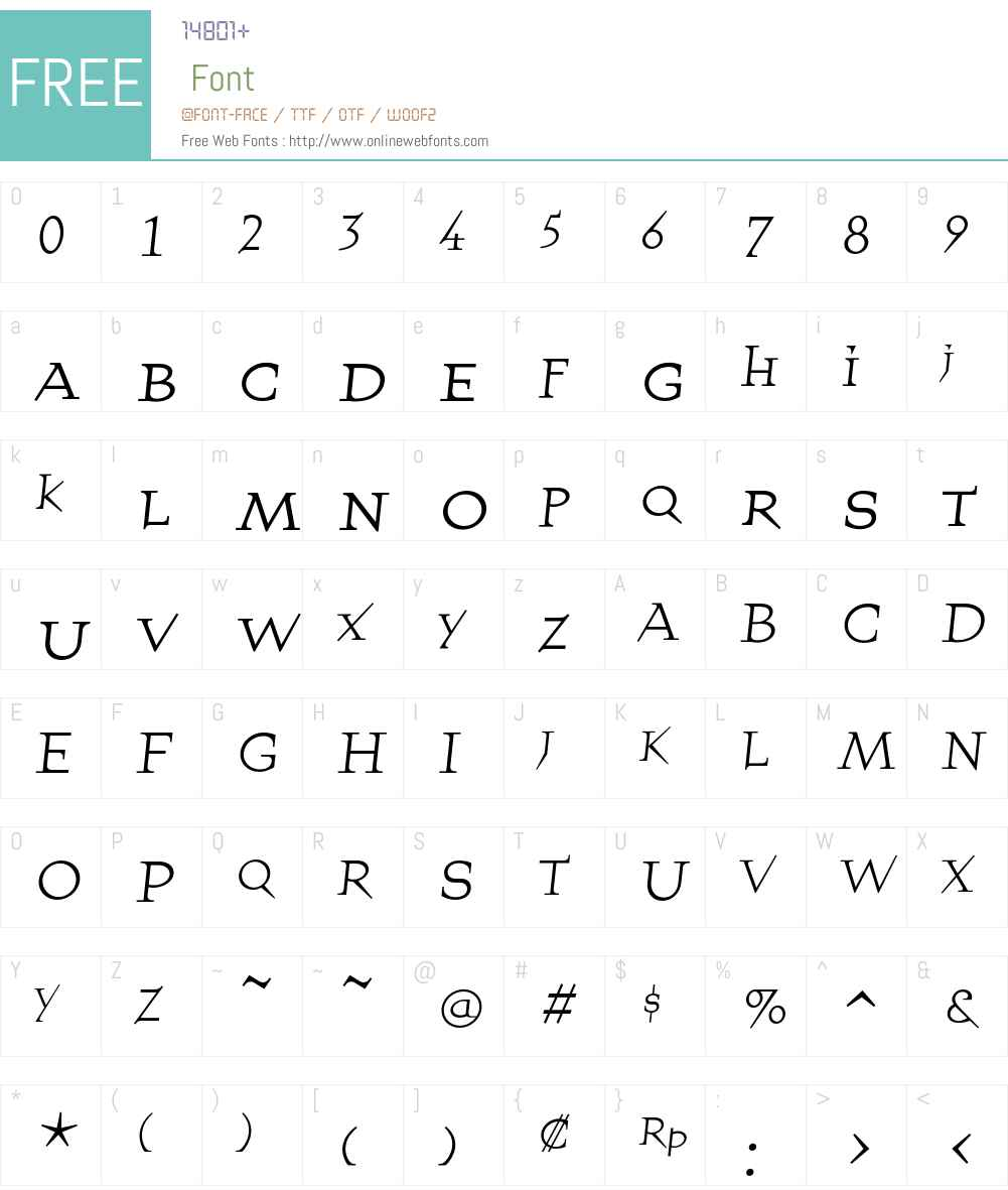 QuartetSmallcapsRegular Font Screenshots