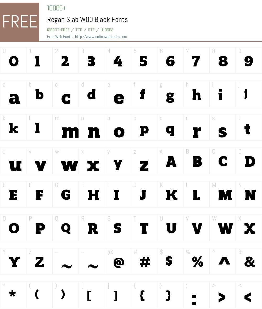 ReganSlabW00-Black Font Screenshots