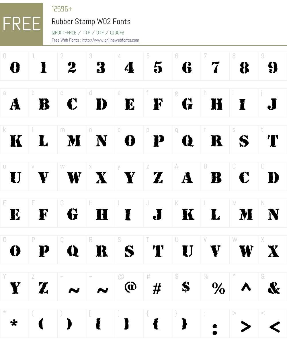 Rubber Stamp Font Screenshots