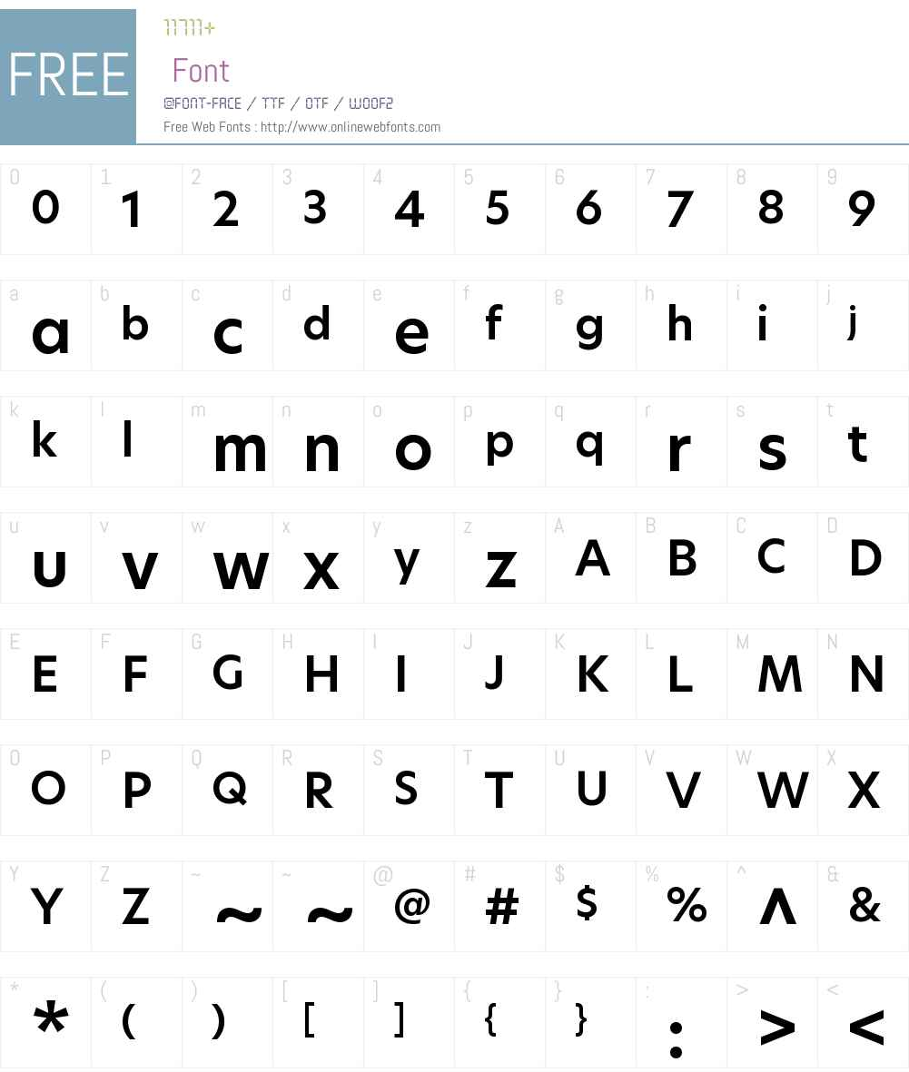 Hero New SemiBold Font Screenshots