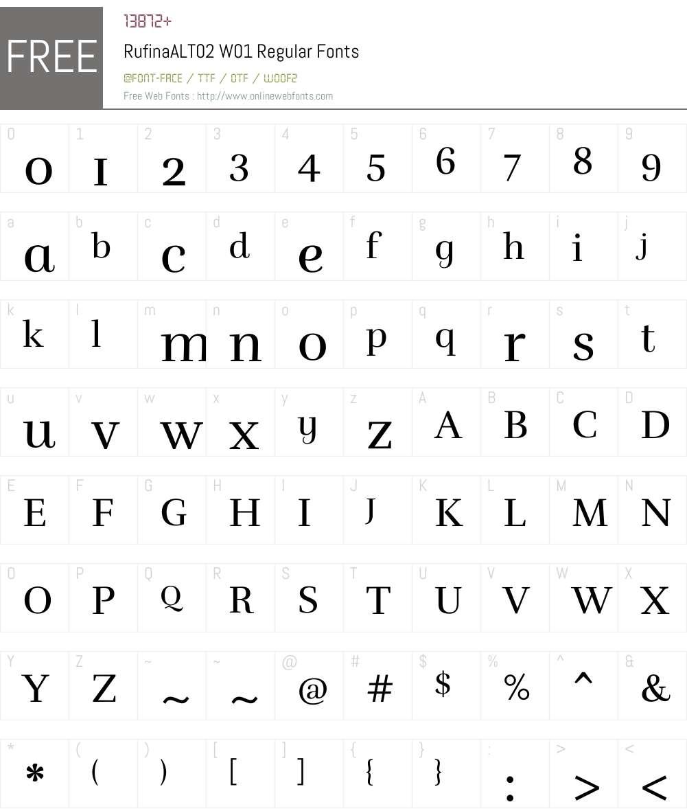 RufinaALT02W01-Regular Font Screenshots