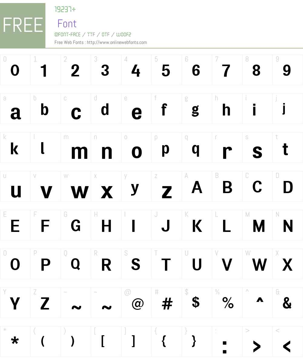 AirSoftW00-Bold Font Screenshots