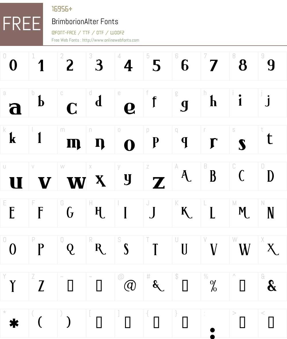 BrimborionAlter Font Screenshots
