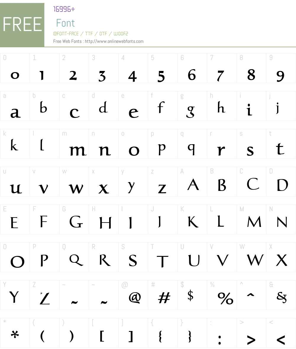 OxalisW01-DemiBold Font Screenshots