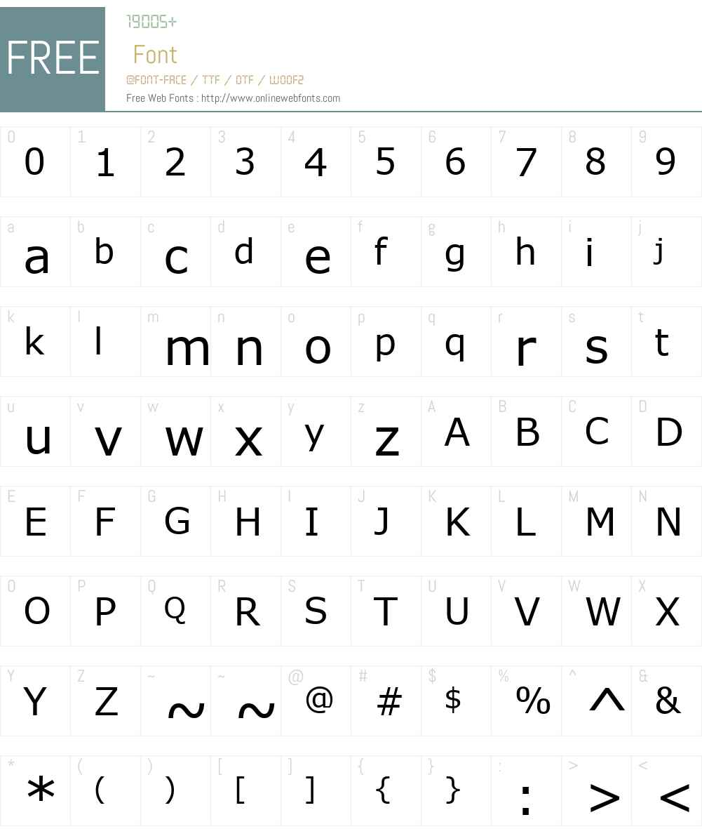 MS Reference Sans Serif Font Screenshots