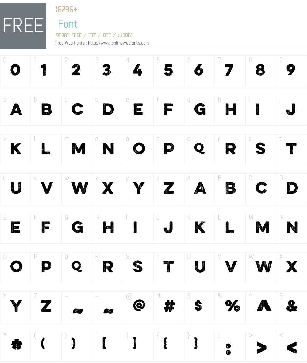 EvelethW01-Bold Font Screenshots