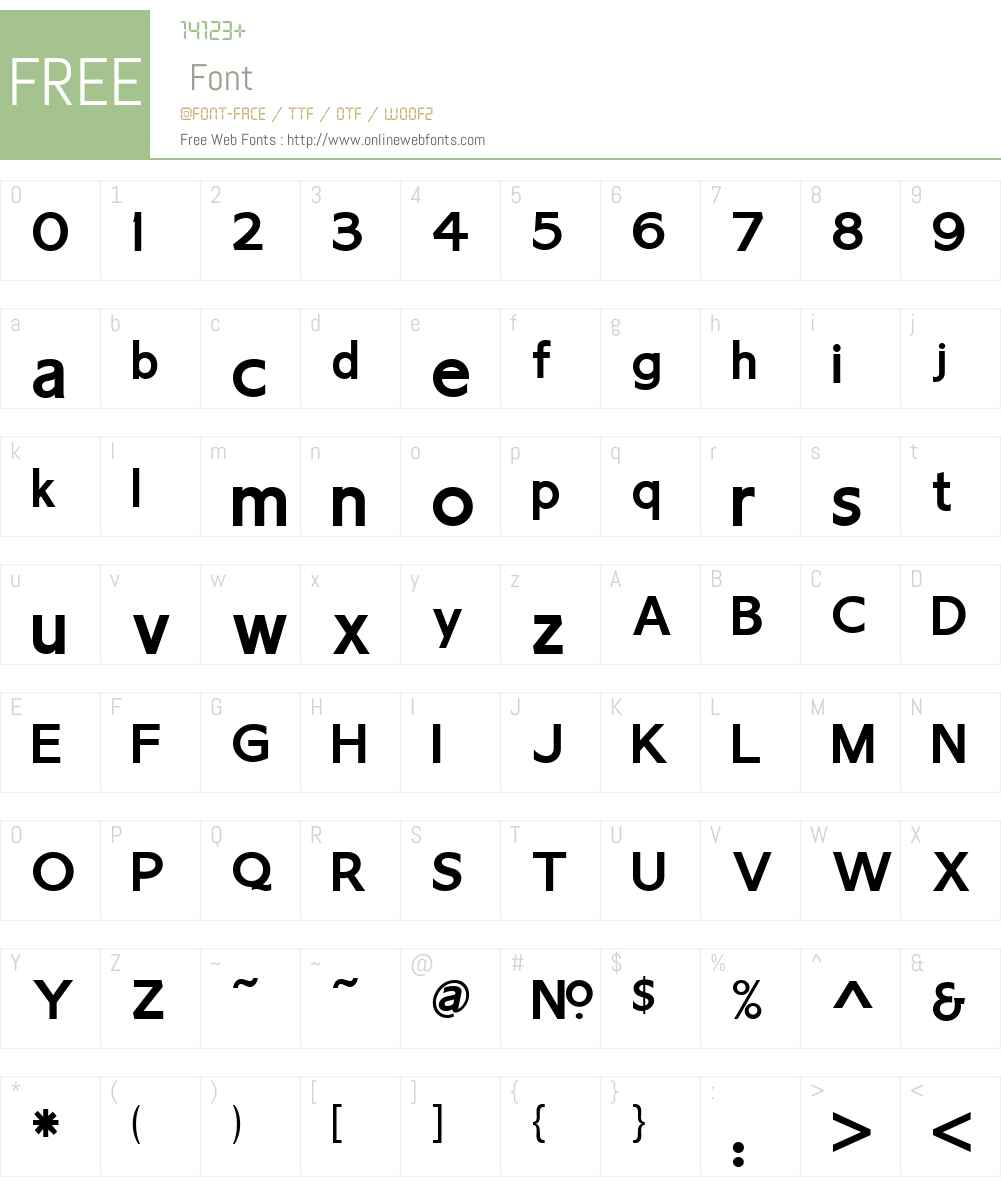 LHF Chesham Sans BOLD Font Screenshots