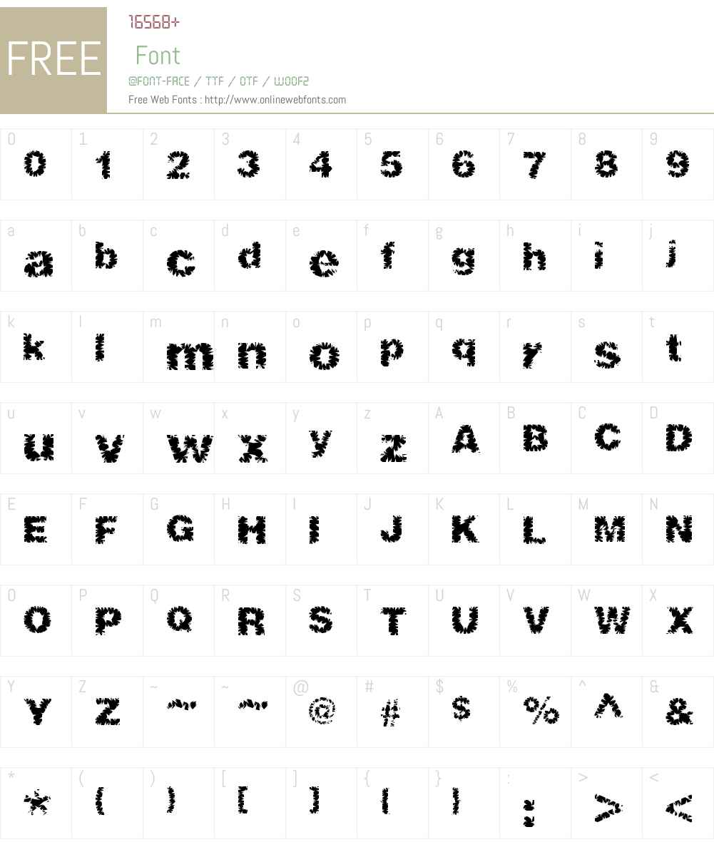 ShredHard Font Screenshots