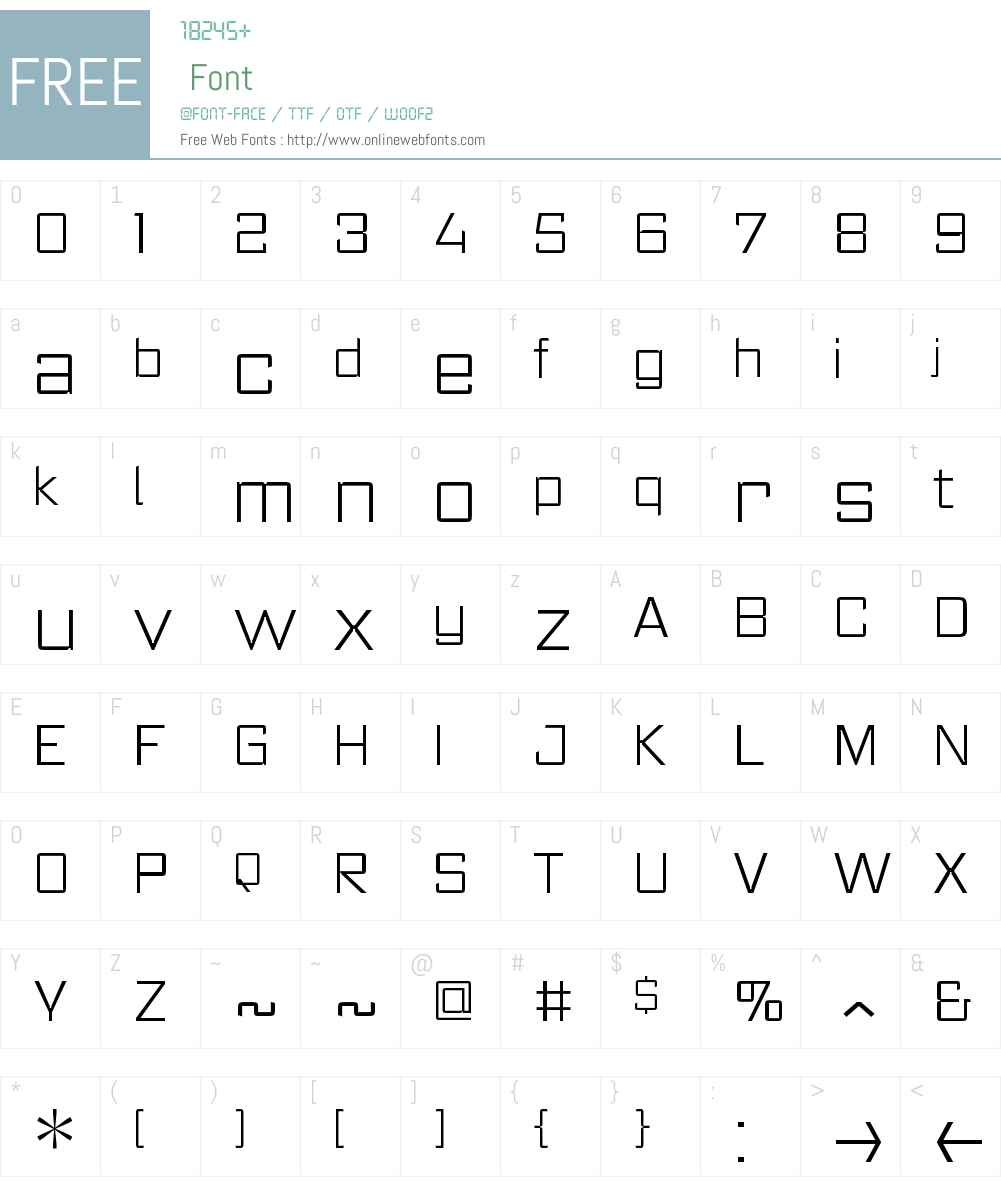 RegisterW00-ExtraLight Font Screenshots