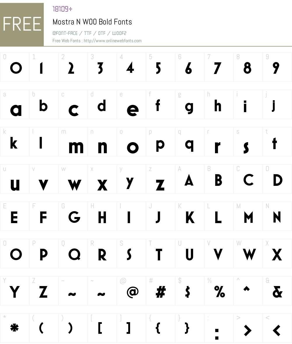 MostraNW00-Bold Font Screenshots