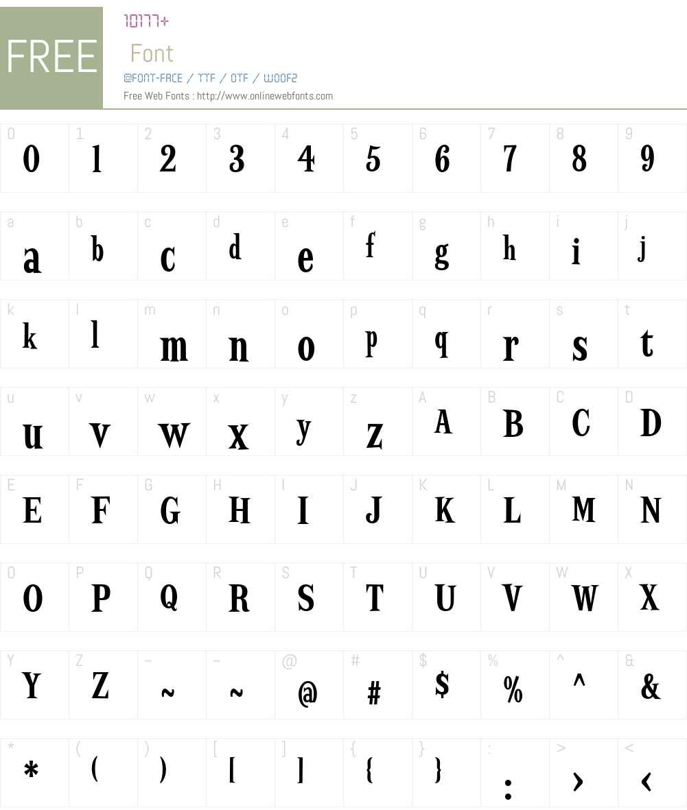 ScrewbyW01-XCndBd Font Screenshots