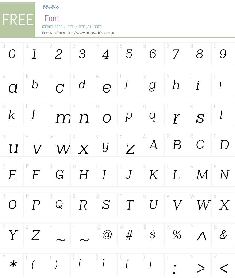 ClasicaSlabW00-BookItalic Font Screenshots