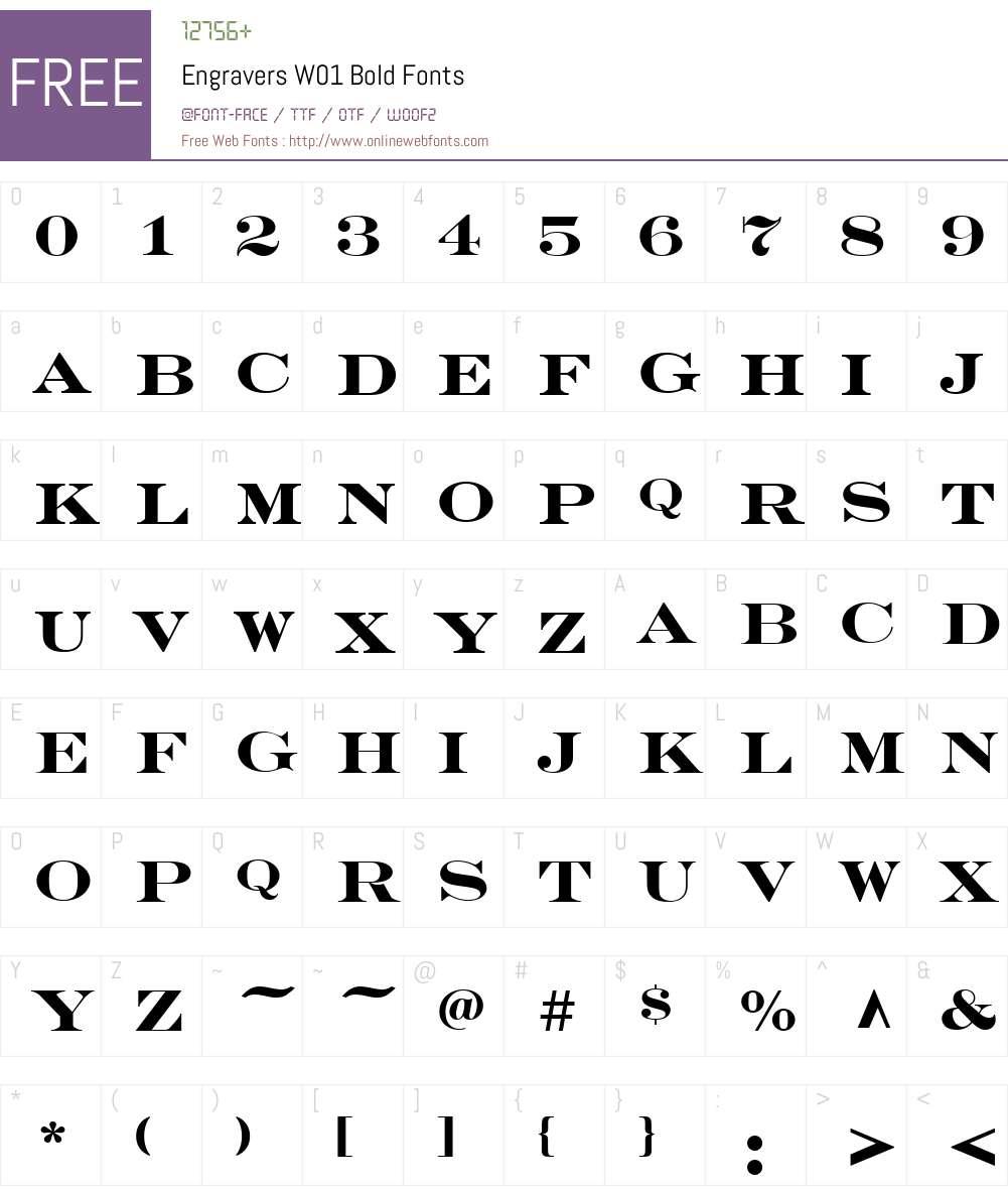 EngraversW01-Bold Font Screenshots