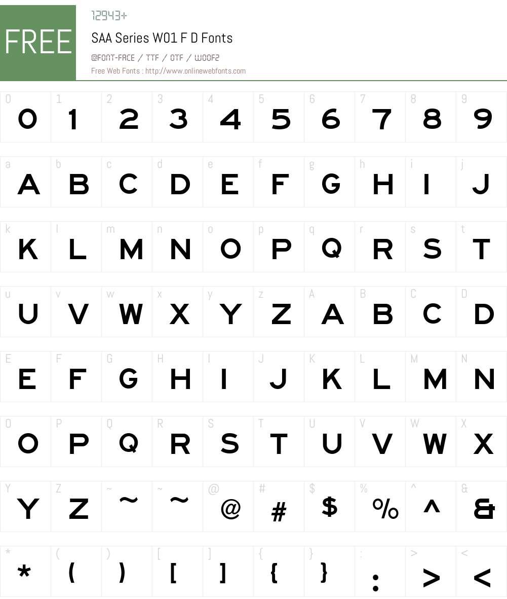 SAASeriesW01-FD Font Screenshots