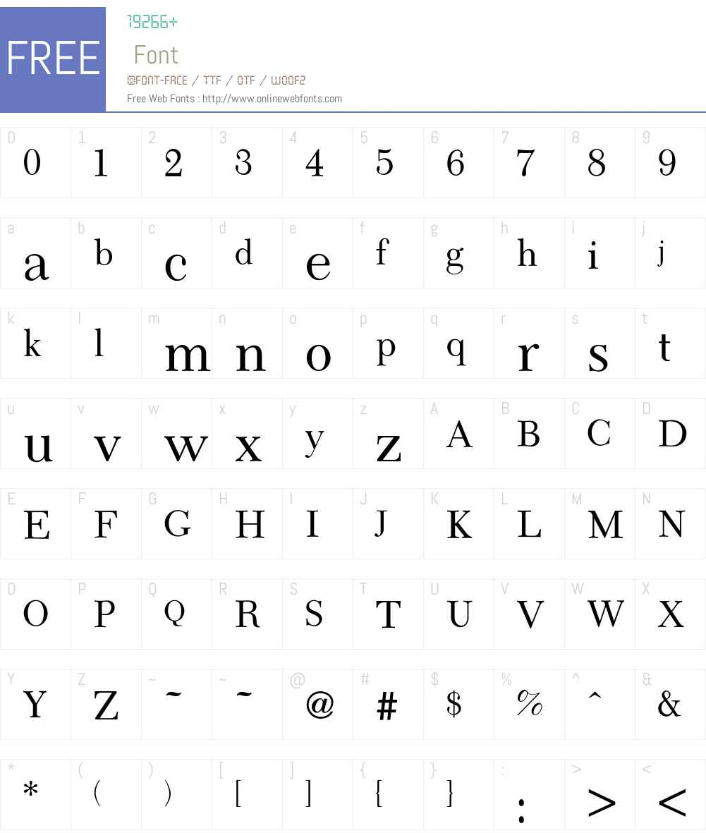 Camelia Font Screenshots