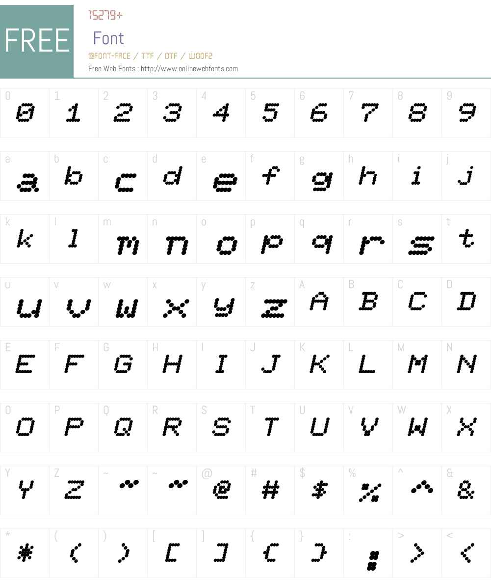 Ninepin Font Screenshots