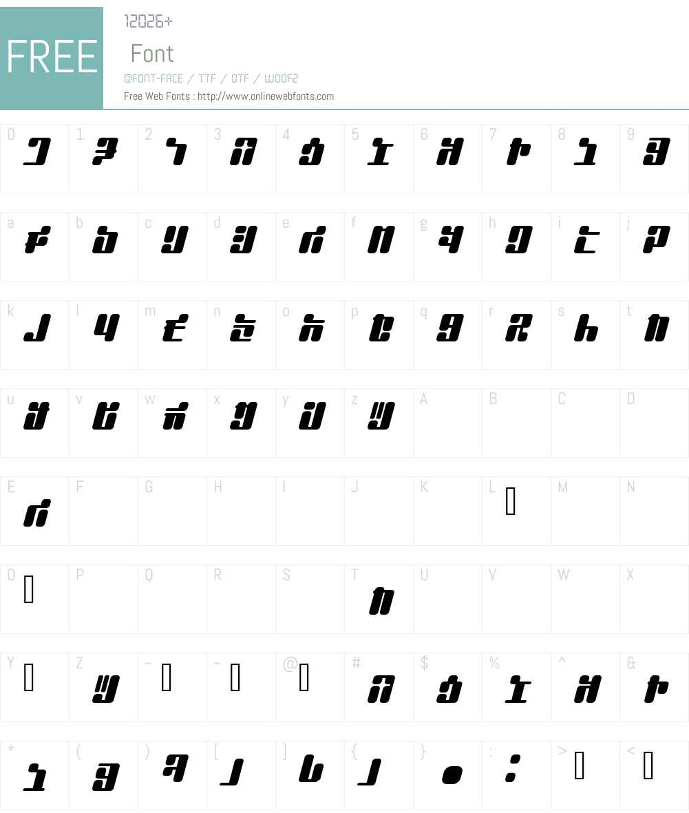 JointBump Font Screenshots
