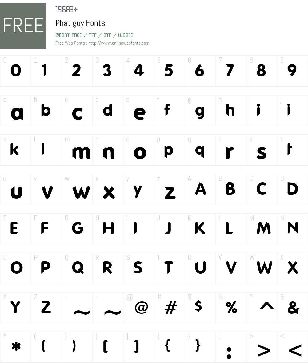 Phat guy Font Screenshots