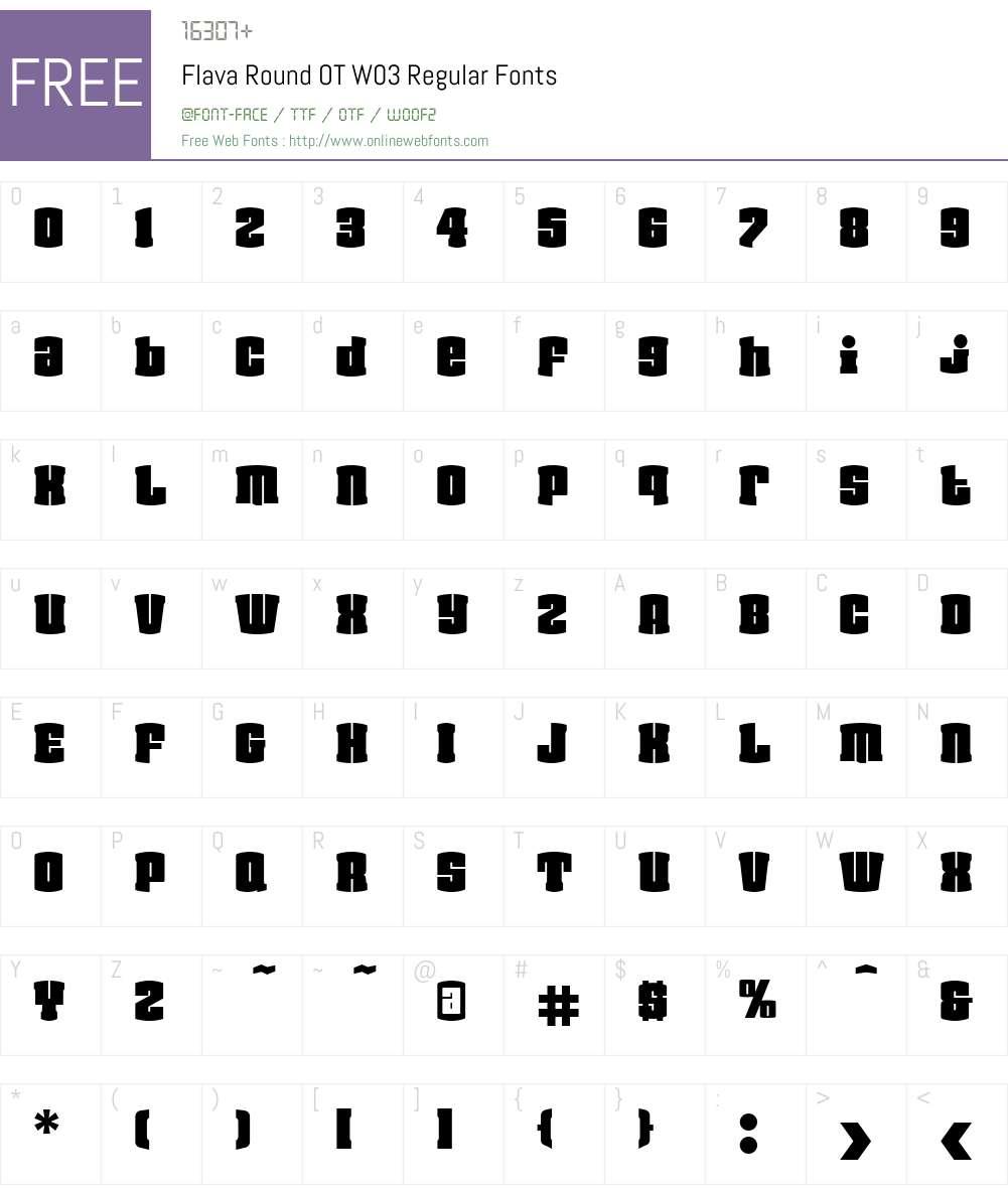FF Flava Font Screenshots