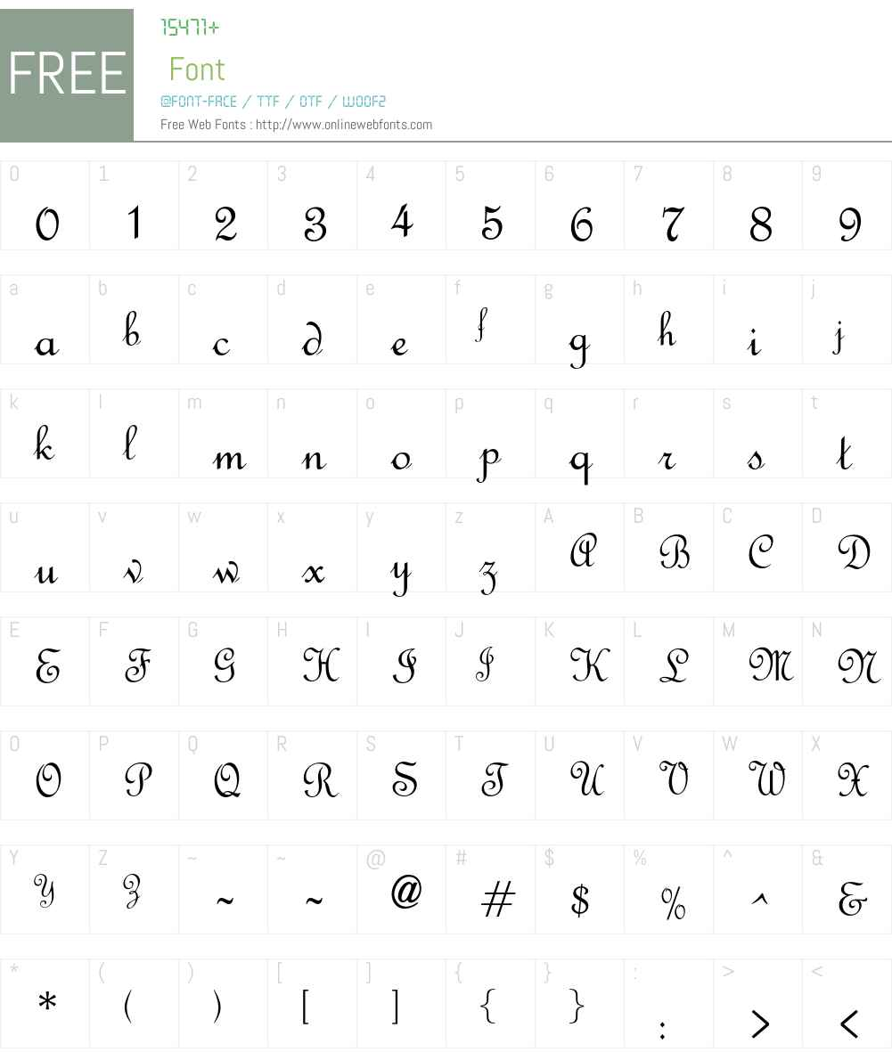 OPTIFrench Font Screenshots