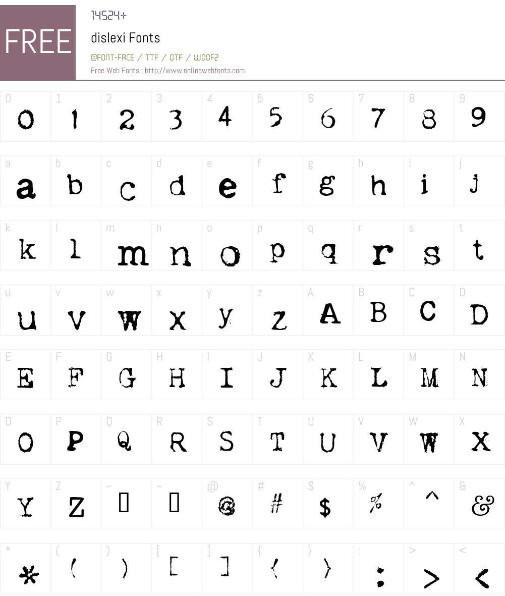 dislexi Font Screenshots