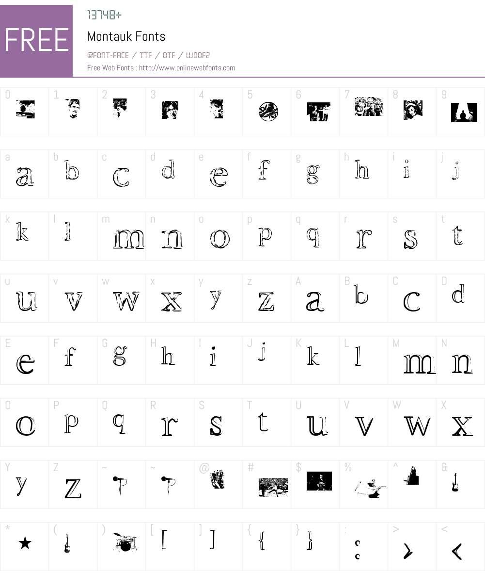 Montauk Font Screenshots