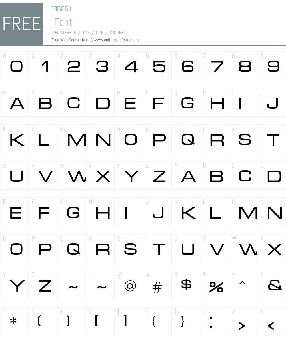 Micra Font Screenshots
