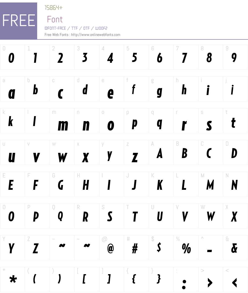 RelayComp-BlackItalic Font Screenshots