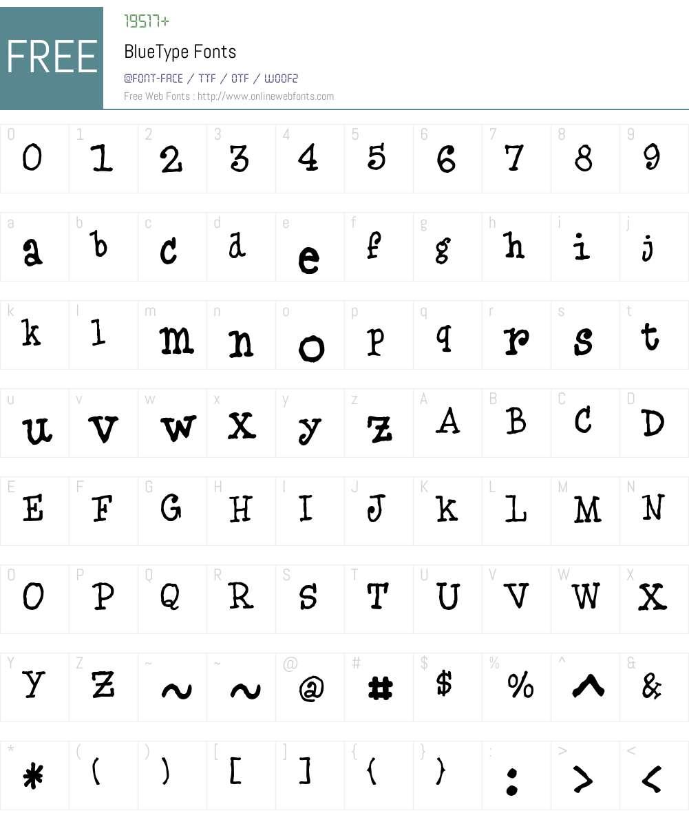 BlueType Font Screenshots