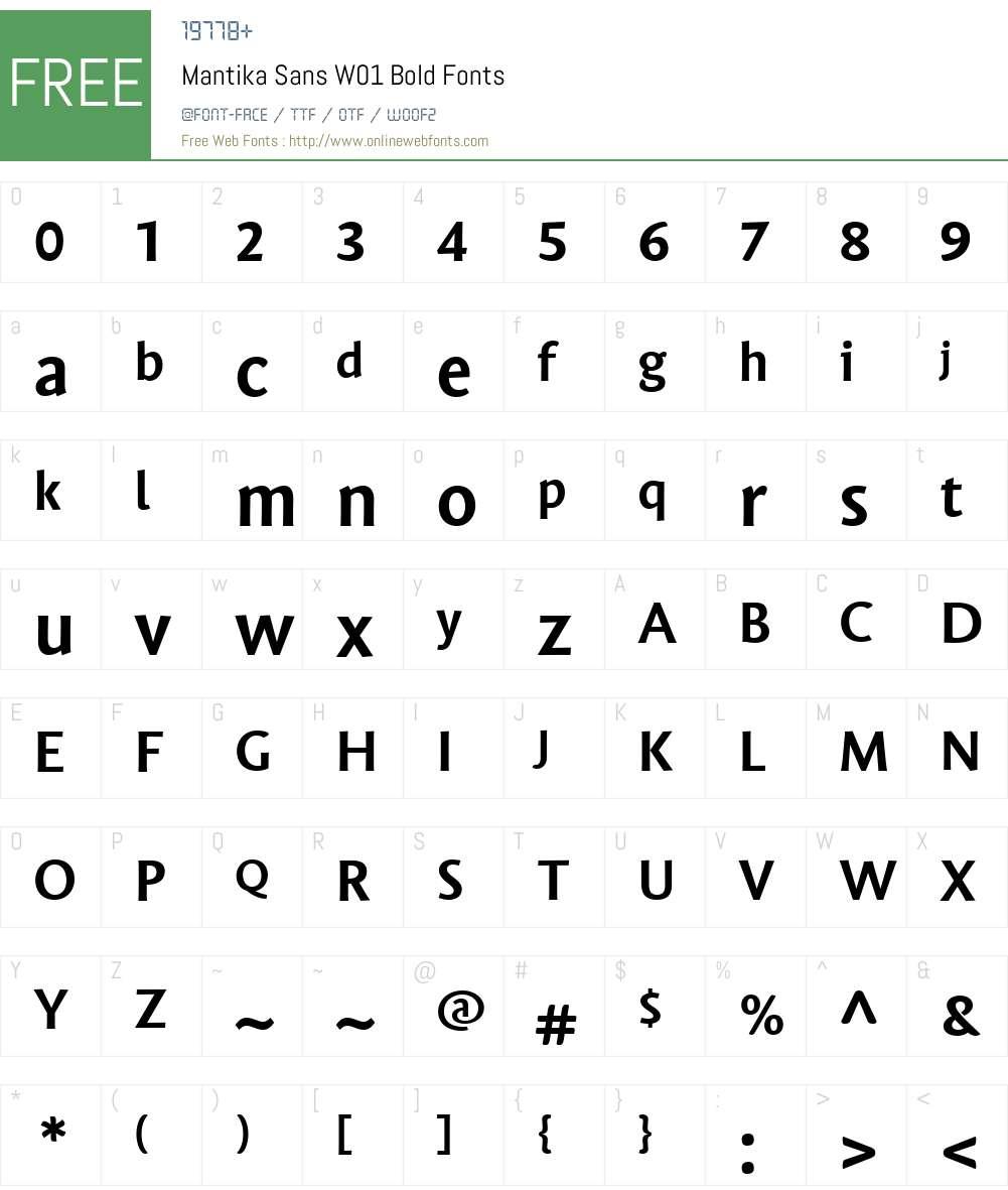 MantikaSansW01-Bold Font Screenshots