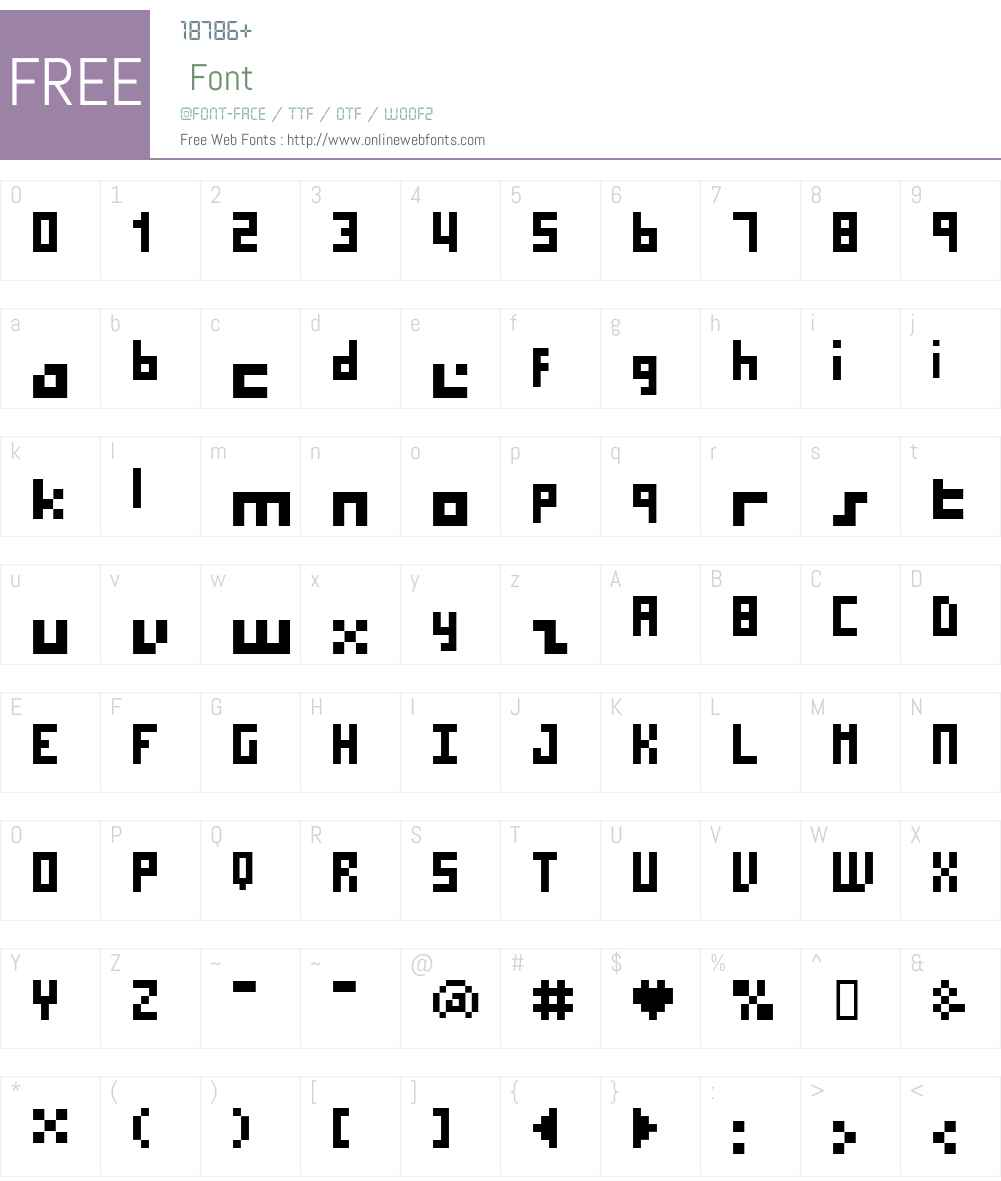 BM micro7 Font Screenshots