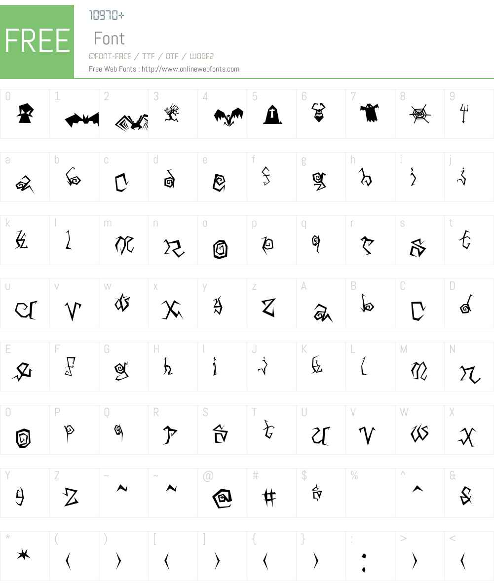 Arachnids Font Screenshots