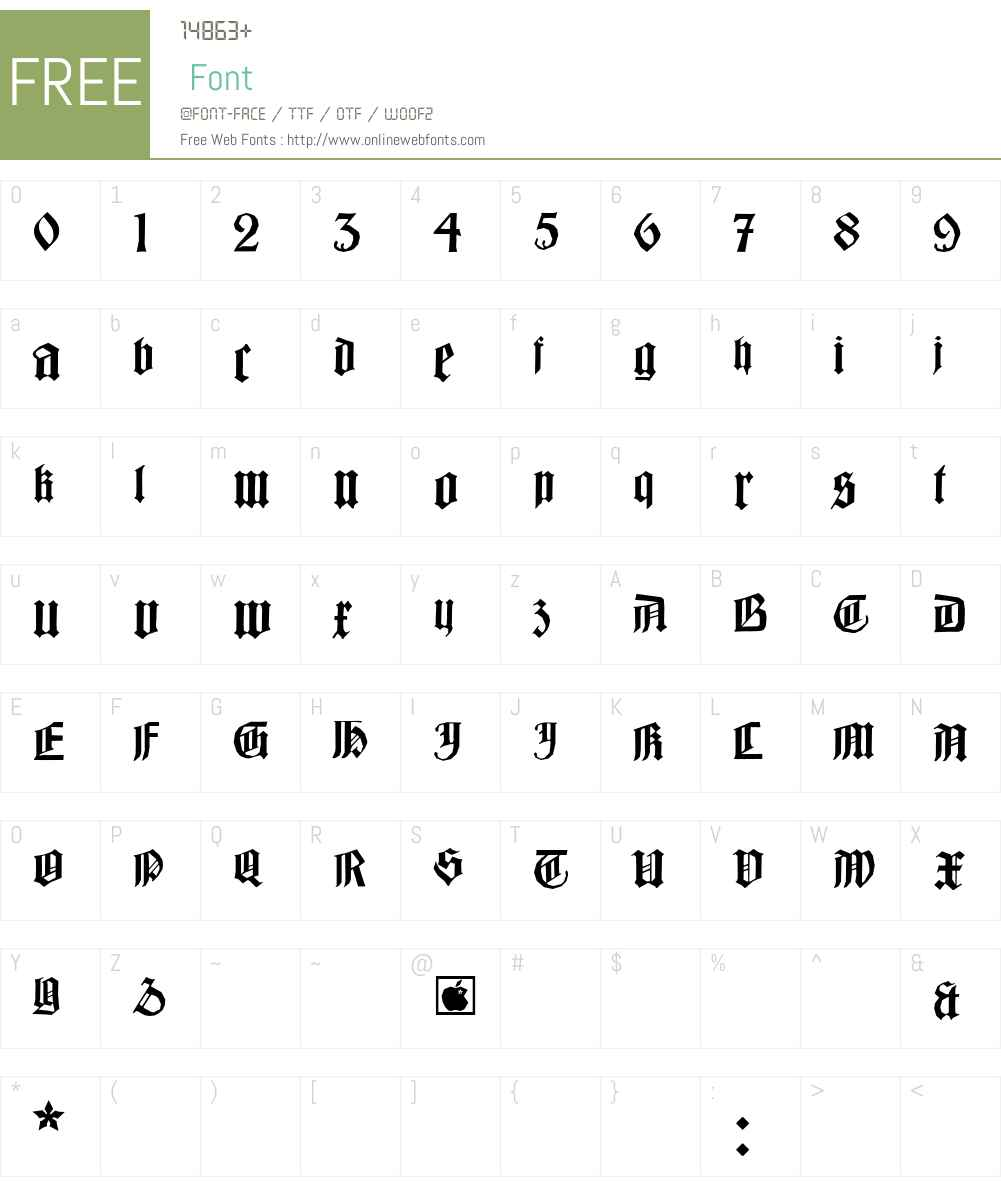BarlosiusEdged Font Screenshots