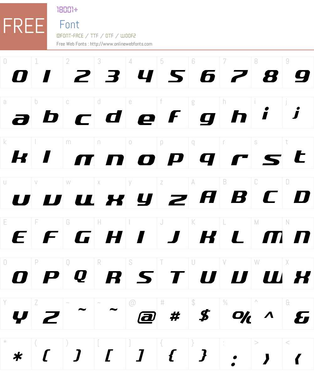 SF Quartzite Font Screenshots