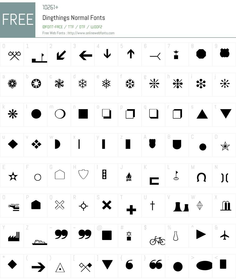 Dingthings Font Screenshots