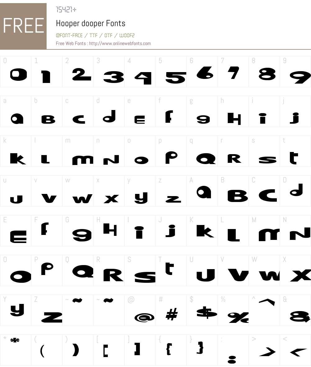 Hooper dooper Font Screenshots