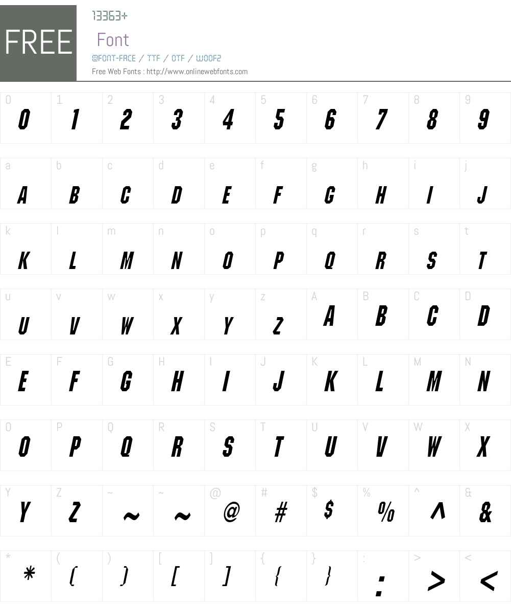 Block Condensed Font Screenshots